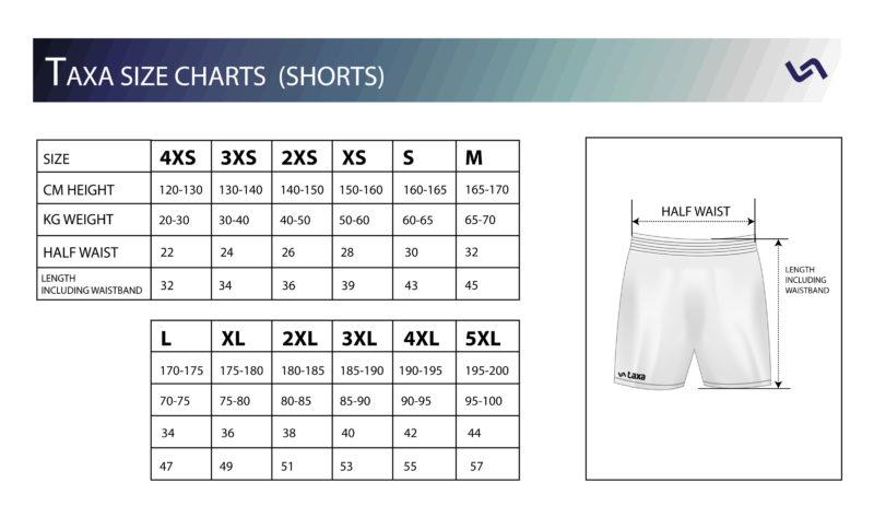 shorts-size-charts